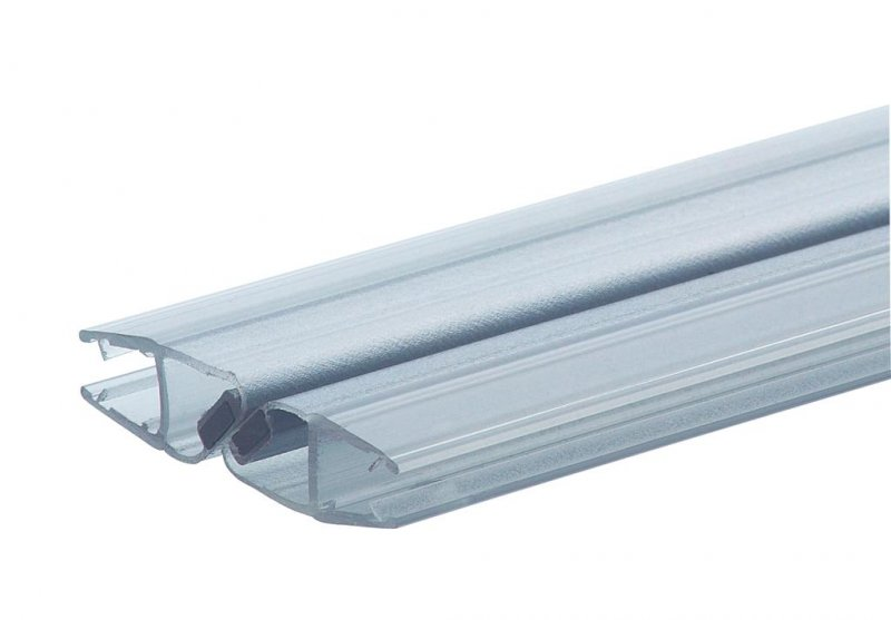 Douchestrip met magneet sluiting glas glas 180 glazen for Porte accordeon pour douche
