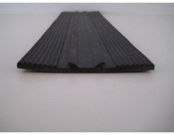 oplegrubber 3mm x 58mm, zwart epdm, rubber strip